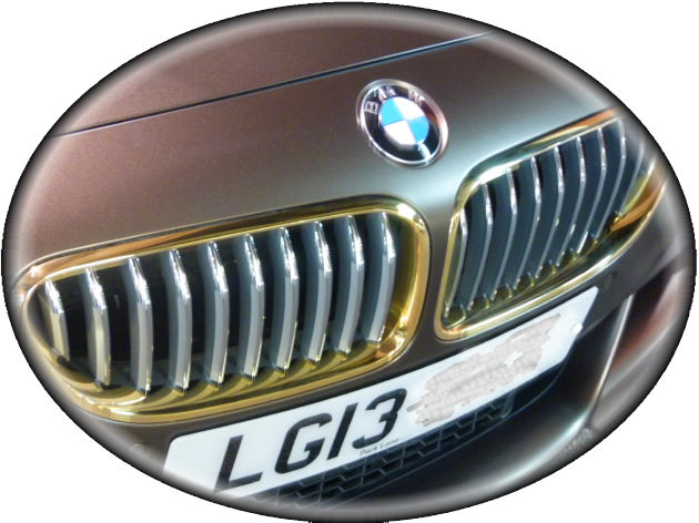 gold plated bmw bumper