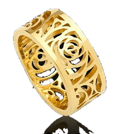 rings in gold plating